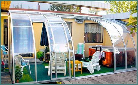 Как пристроить веранду к дому из поликарбоната, фото-9