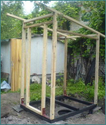 Как построить туалет на даче своими руками-4