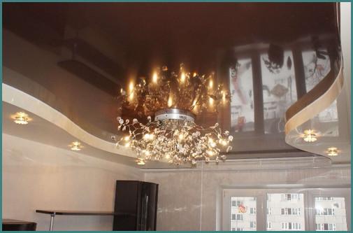 Двухуровневые натяжные потолки для зала, анализ-2