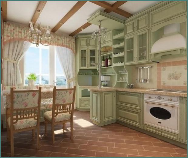 Фото интерьера кухни в стиле Прованс, аналитика-2