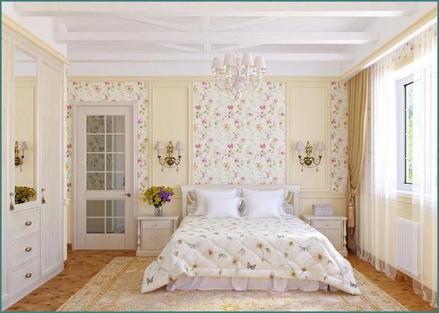 Фото интерьера спальни в стиле Прованс, аналитика