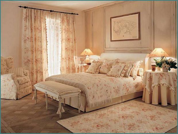 Фото интерьера спальни в стиле Прованс, аналитика-2