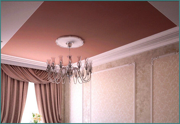 Красивые натяжные потолки для зала, фото-3