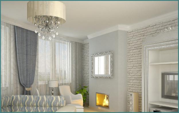 Красивые натяжные потолки для зала, фото-4