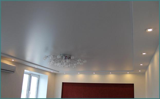 Красивые натяжные потолки для зала, фото-5