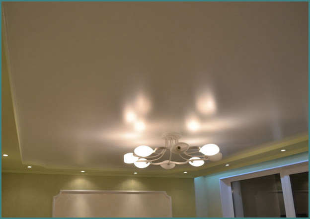 Красивые натяжные потолки для зала, фото-6