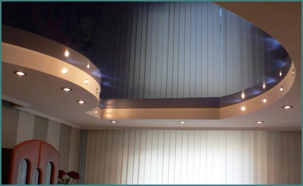 Красивые натяжные потолки для зала, фото-8