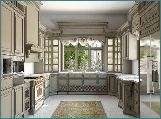 П-образные кухни с окном, аналитика-4