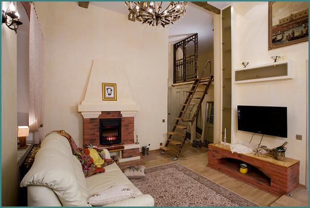 Электрические камины в интерьере гостиной, анализ-1