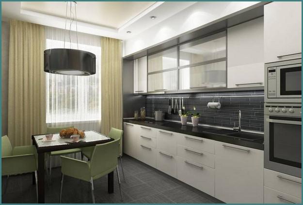 Кухни 12 кв. метров, дизайн, проекты, обзор-4