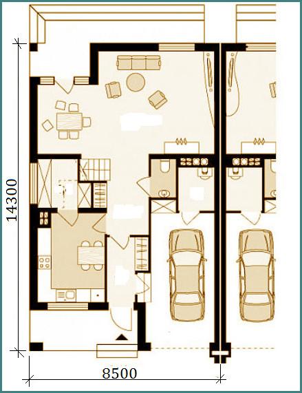 Проекты домов на 2 семьи с разными входами, обзор, выводы-1