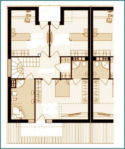 Проекты домов на 2 семьи с разными входами, обзор, выводы-2
