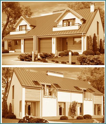 Проекты домов на 2 семьи с разными входами, обзор, выводы-3