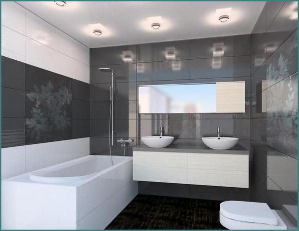 Красивые, модные, современные ванные комнаты, дизайн, интерьер, обзор, анализ-2
