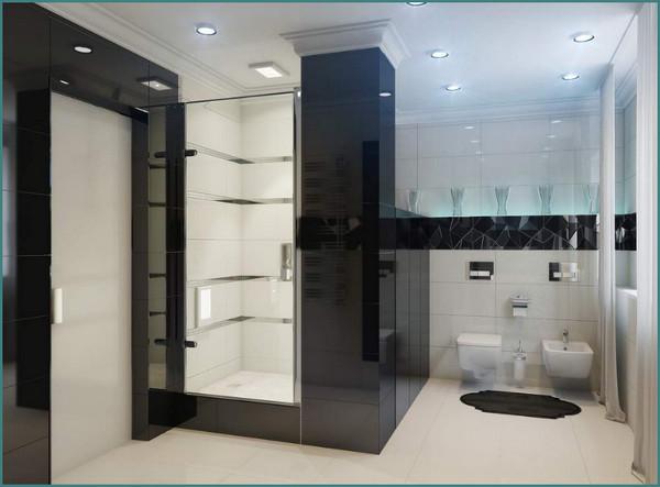 Красивые, модные, современные ванные комнаты, дизайн, интерьер, обзор, анализ-3