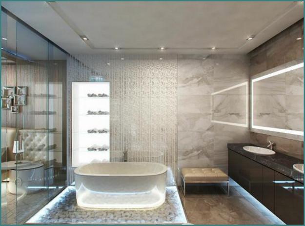 Современные идеи 2017 интерьера ванных комнат с фото, обзор-2