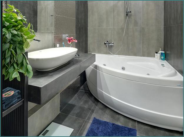 Современные идеи 2017 интерьера ванных комнат с фото, обзор-7