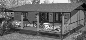 Каркасные дома для дачи, проекты, варианты-1