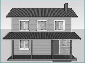 Каркасные дома для дачи, проекты, варианты-3