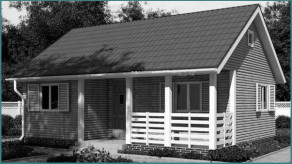 Стандартные каркасно-щитовые одноэтажные дома-1