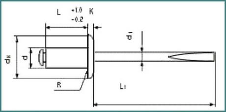 Все размеры вытяжных алюминиевых и стальных заклепок, аналитика-4