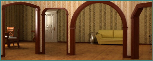 Формы и фото дверных арок, цены и конструкции