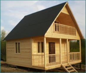 Типовые проекты домов из бруса для постоянного проживания-1