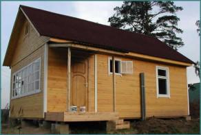 Типовой каркасно-щитовой дом эконом класса-3