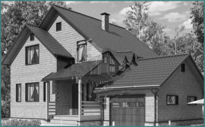 Особенности проекта дома из бруса 8х10 с гаражом