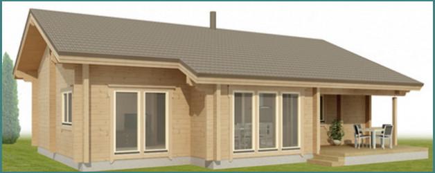 Немного о проектах деревянных одноэтажных домов из бруса с фото