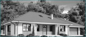 Особенности проектов одноэтажных домов из бруса с гаражом, обзор-1